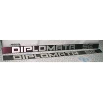 Emblema Plaqueta Opala Caravan Diplomata Vermelho Ciprius 92