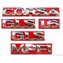 Kit Emblemas Corsa Sedan Gls 1.6 - 96 À 02 - Modelo Original