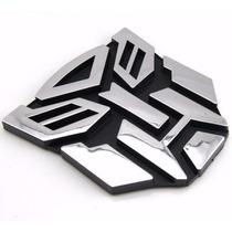 Emblema Autobot Transformers Cromado Alto Relevo Adesivo!!!
