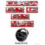 Kit Emblemas Corsa Sedan Gls 1.6 - 00 À 02 - Modelo Original