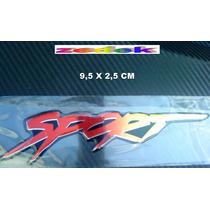 Emblema Adesivo Automotivo Sport - Alto Relevo - Resinado