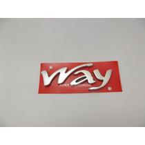Emblema Way Cromado Fiat Original + Novo
