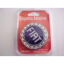 Cj Emblema Resinado Modelo Fiat P/ Roda Calotas 58mm