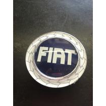 Sub Calota De Centro Roda Fiat Azul Resinado 48mm