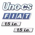 Emblemas Fiat Uno Cs - Modelo Original - Preço Kit!