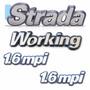 Kit Emblema Strada Working 1.6mpi Até 2001 - Modelo Original