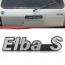 Emblema Tampa Porta Malas Fiat Elba S 89 90 91 92 Prata