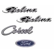 Kit Emblemas Ford Corcel 1 - Belina - Modelo Original