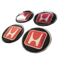 Kit De 4 Emblemas Honda New Civic Crv Fit P/ Rodas Ou Calota