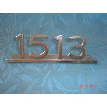 Emblema 1513 Do Caminhão Mercedes - Antigo