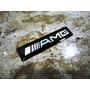Emblema Amg Mb Fino Alumínio Pintura Automotiva 9cm Por 2cm