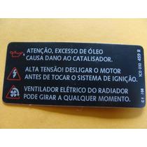 Etiqueta Atenção Beetle Jetta Bora Original Vw Nova