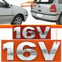 Emblema Letreiro Adesivo 16v Gol Parati Saveiro G3 Cromado