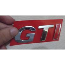 Emblema Cromado Gti(inclinado Com I Vermelho)gol G3