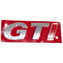 Emblema Alto-relevo G T I Cromado P/ Gol/saveiro/parati/golf
