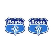 2 Adesivos Route Fox + Brinde 2 Unidades