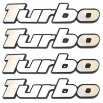 Emblemas Turbo Gol - Parati - Saveiro. Kit Com 4 Itens!
