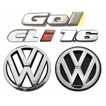 Emblemas Gol Bola Cli 1.6 + Vw Grade E Mala- Modelo Original