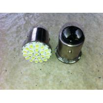 Lâmpada 22 Leds 12v 2 Polos Lanterna/freio Super Branca Par