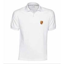 Polo Porsche Crest Branca