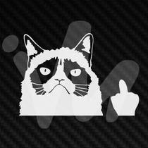 Adesivo Grumpy Cat Gato Rebaixado Socado Euro Jdm Fixa