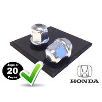 Porca De Roda Cromada Honda Civic, Fit, City, Cr-v,..(c/20)