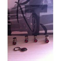 Bico De Pneu Cromado Ant-furto Da Logomarca Mitsubishi .