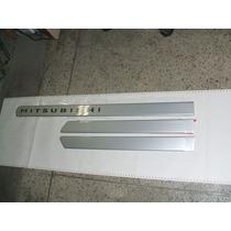 Friso Lateral Mitsubishi L200 Triton 2010 Prata