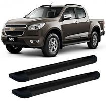 Estribo Preto Para Nova Pickup Chevrolet S10 Cabine Dupla