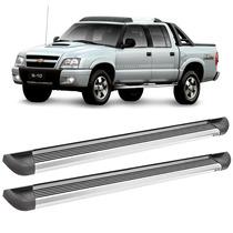 Estribo Plataforma Alumínio Para Chevrolet S10 Cabine Dupla