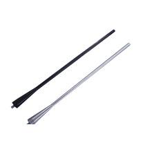 Haste Antena Aluminio 25cm Preta Ou Prata Frete Gratis