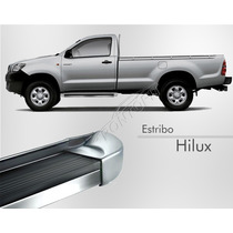 Estribo Toyota Hilux Simples 2012 2013 2014 - Prata Metalico