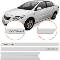 Friso Lateral Corolla 2008 2009 2010 2011 Branco Borrachão