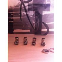 Bico De Pneu Cromado Ant-furto Da Logomarca Volkswagen .