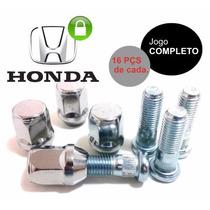 Cj. Parafuso+porca Roda Honda Civic, Fit, City (16) Completo
