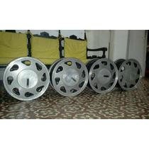 Jogo De Rodas De Liga Aluminio Leve Aro 14
