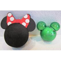 Minie Enfeite De Antena + Aromatizador Verde Mickey Grátis
