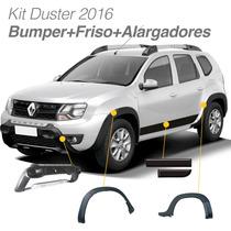 Kit Novo Duster 2016 Bumper + Alargadores Para-lama + Friso
