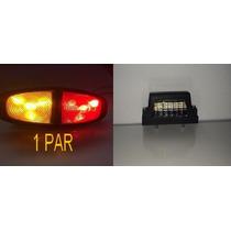 Lanternas Leds Carretinha Reboque E Luz De Placa