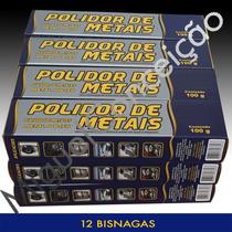 12 Metal Polish Polidor De Metais Cromo Alumínio Calota Gt