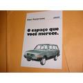 Folder Raro Fiat 147 Panorama 83 84 1983 1984