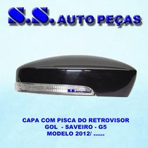 Capa C/ Pisca Retrovisor Gol Voyage G6 2012/