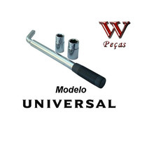 Chave De Roda Universal Alongada Serve Vw Ford Fiat Gm Honda