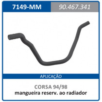 Mangueira Reservatorio Radiador Gm 90467341 Corsa:1994a1998