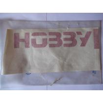 Logotipo Hobby Da Tampa Traseira - Vermelho Escort 94/96