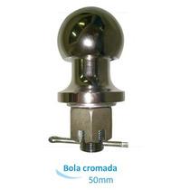 Bola Esfera Para Engate De Reboque Universal 50mm Cromada