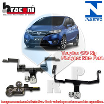 Engate Reboque Braconi Honda New Fit 2015 A 2016 Inmetro