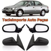 Par Retrovisor Eletrico Honda Civic Ano 1997 1998 1999 2000