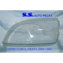 Vidro Lente Farol Fiesta 00 01 02 03 Courie 2000 À 2011
