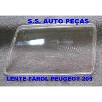 Vidro Lente Do Farol Peugeot 205